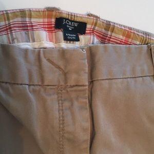 J Crew City Fit cotton khaki pants EUC! Size 6 reg
